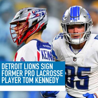Tom Kennedy lacrosse Detroit Lions NFL