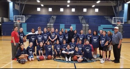 The Holiday Hoops Basketball Clinic hosts kids from Lapwai and beyond, aiming to bridge gaps built through race, gender, location and more. Photo courtesy of Rika Powaukee.