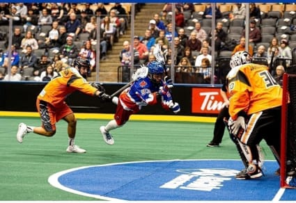 Latrell Harris didn't plan to start his professional lacrosse career at age 18, but after losing his scholarship, that's how it turned out.
