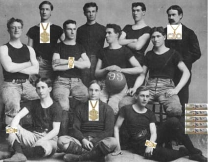The FBI uncovered a lucrative pay-for-play scheme operated by James Naismith while he was the head coach at Kansas from 1898 to 1907. It's pretty bad.