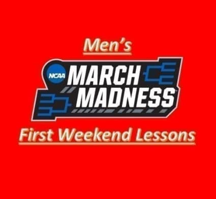 The Men's March Madness has concluded its first weekend, so we take a look back at three of the biggest lessons from all the action.