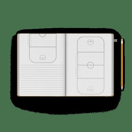 box lacrosse journal / notebook