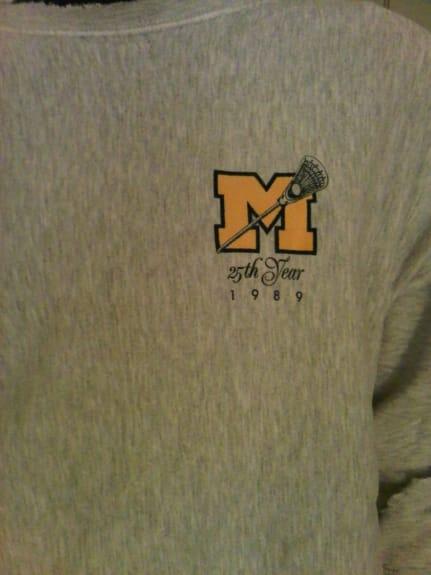 Michigan 25 years lacrosse sweatshirt