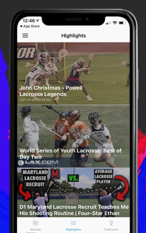 free lacrosse iphone app - video highlights