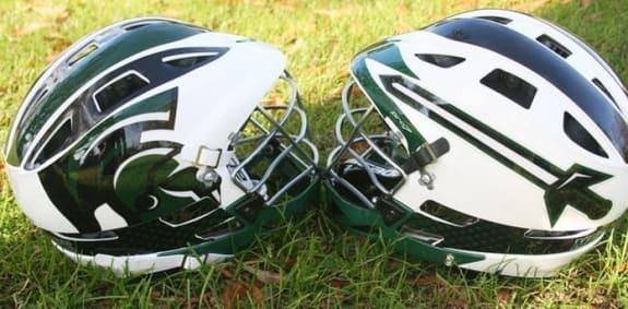 Mount Olive College lacrosse helmets1
