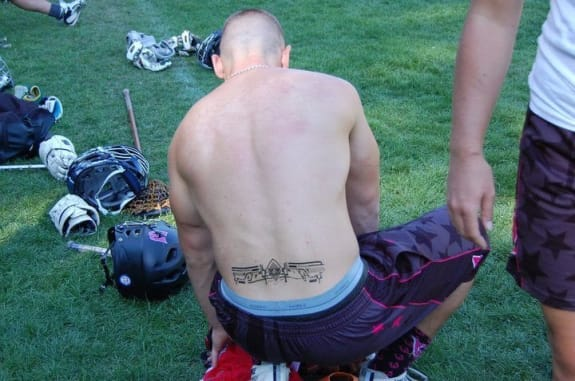 Woozles Dos Equis Tahoe Lacrosse tourney tramp stamp