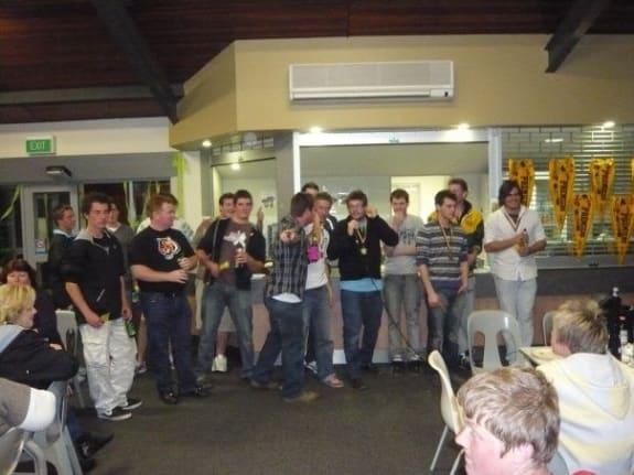 Post game beers Australia Wembley Lacrosse Club Perth