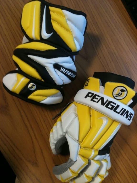 Penguins got the Nike Vapor Elite Lacrosse Gear hook up!