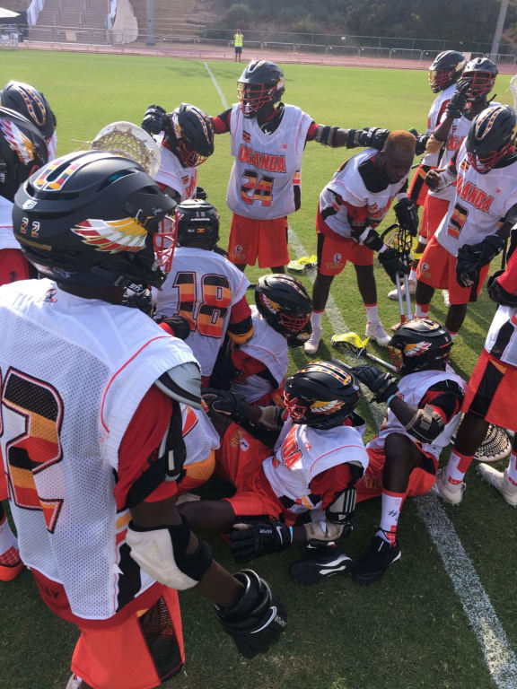 Team Uganda Celebratory Dog Pile 2018 FIL World Lacrosse Championships world games