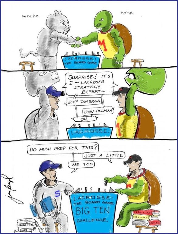 NEW D1 Lacrosse Cartoon D3 bonus