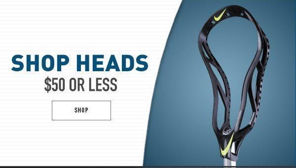 Shop Lacrosse Heads $50 or less