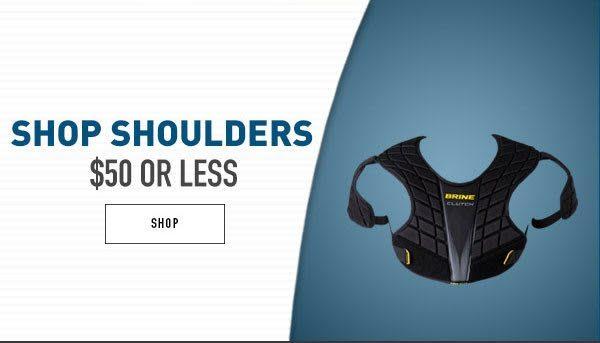 Shop Lacrosse Shoulder Pads $50 or less