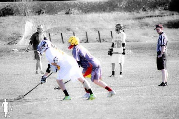 Faceoff wing line bishop kelly vs hellgate high school lacrosse