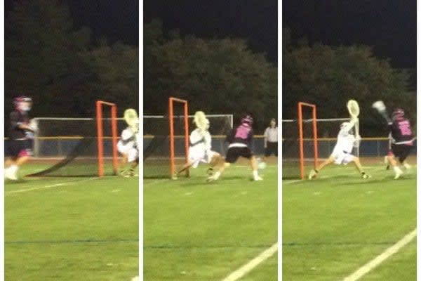 Peter Baum scores a goal for Team STX at LXM PRO Los Angeles