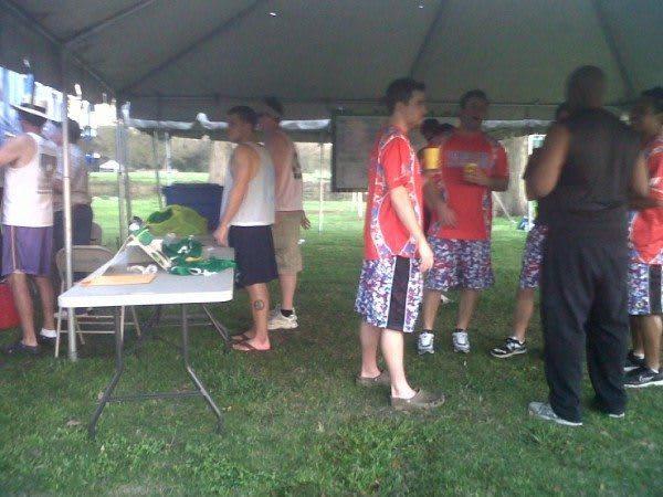 Mardi Gras Lacrosse Tournament 2011 beer garden