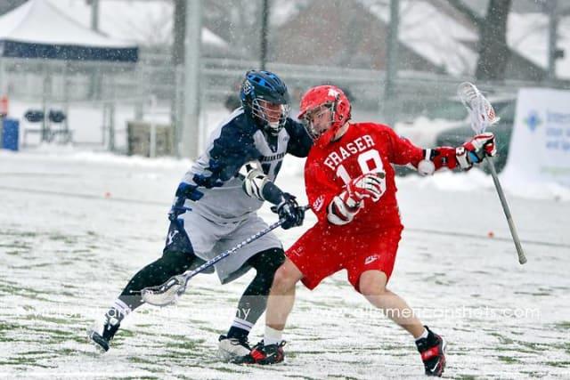 BYU Simon Fraser Lacrosse 2011 snow lax
