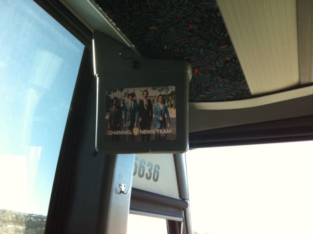 tv on the bus