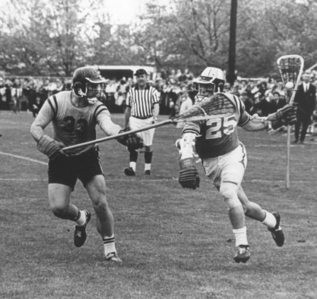 Joe Cowan for Hop, against Navy, in 1967 Photo courtesy: Johns Hopkins