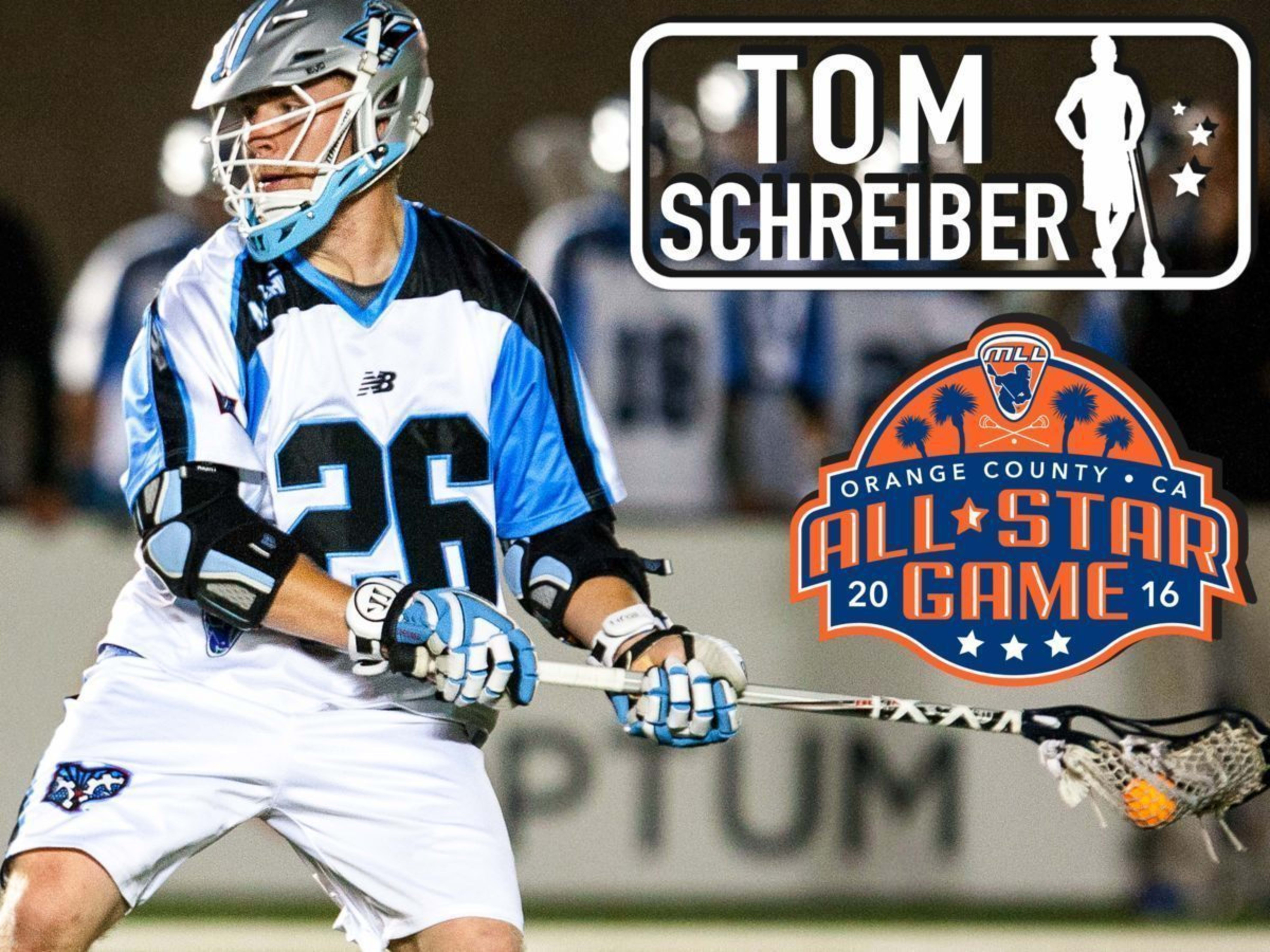Tom Schreiber - major league lacrosse all stars by brand