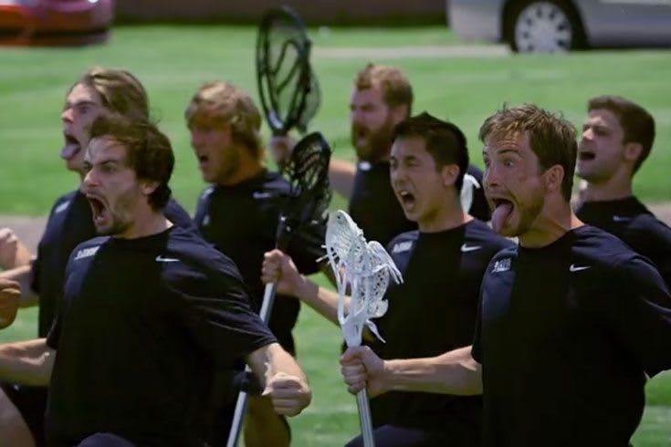 New Zealand Lacrosse performing the HAKA