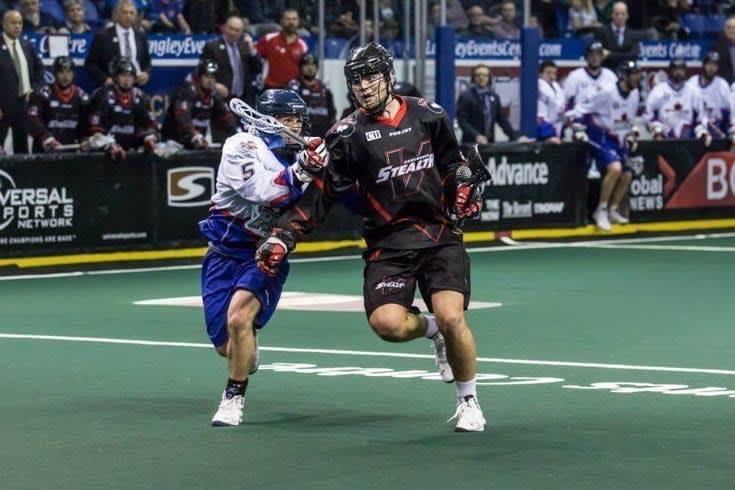 Johnny Powless Vancouver Stealth vs Toronto Rock NLL Photo Credit: Garrett James/Vancouver Stealth