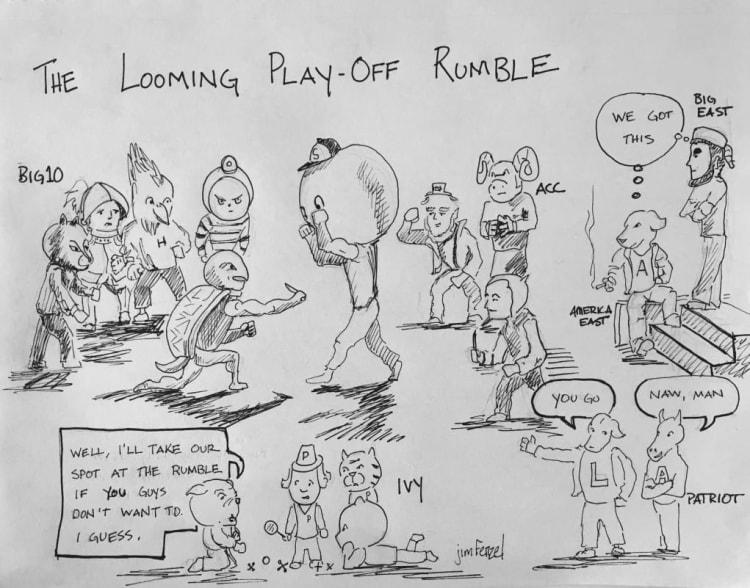 West Side Story D1 lacrosse cartoon