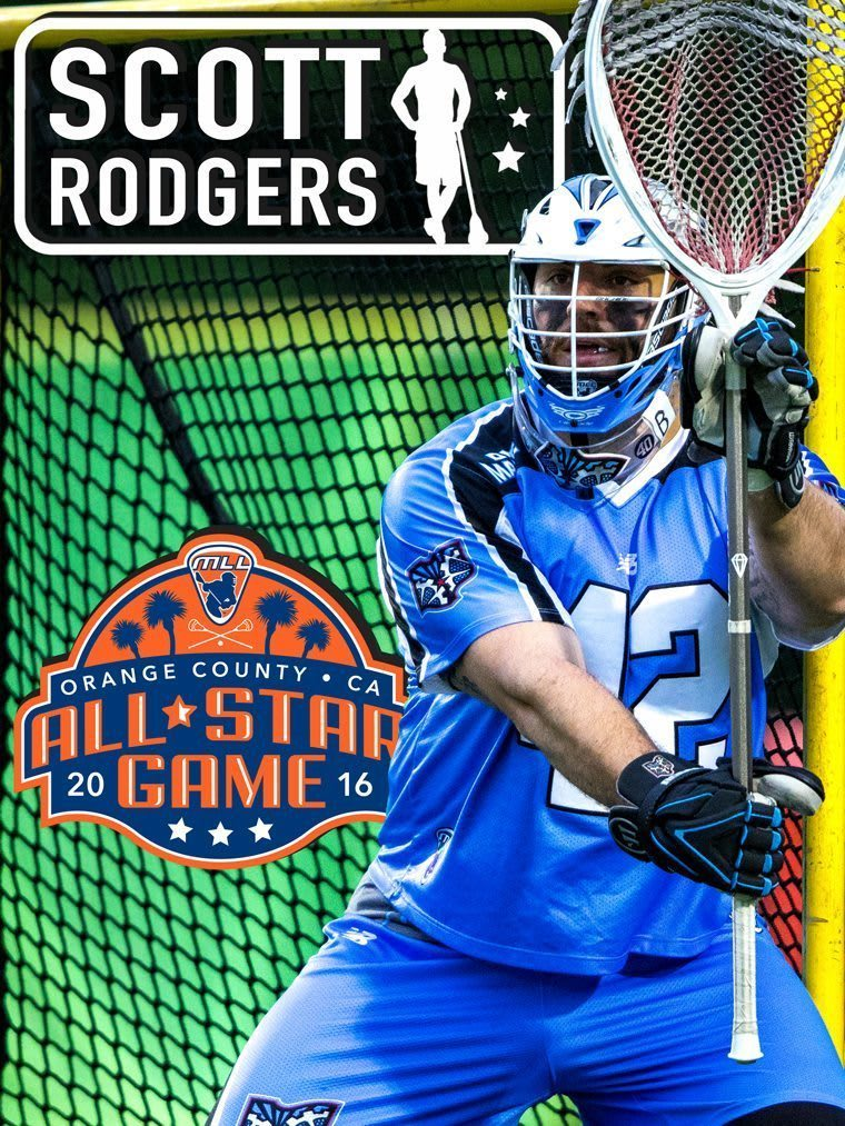 Scott Rodgers - major league lacrosse all stars by brand