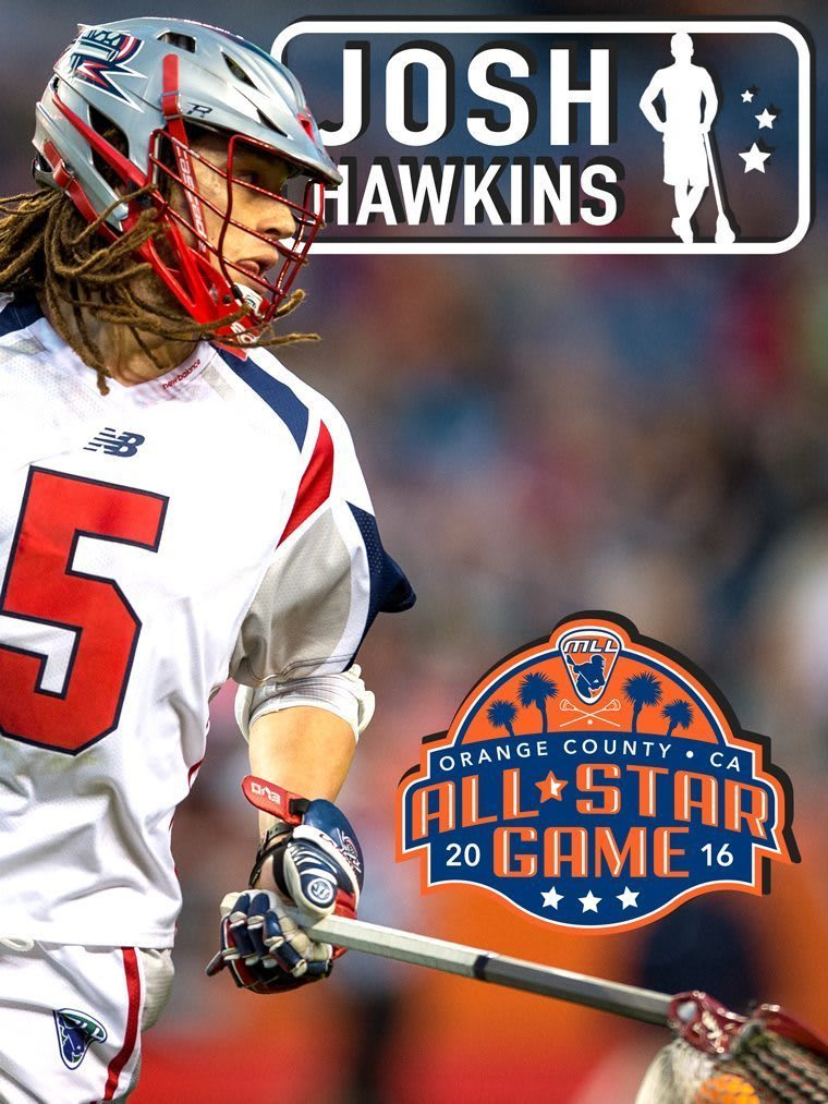 JOSH HAWKINS - major league lacrosse all stars by brand