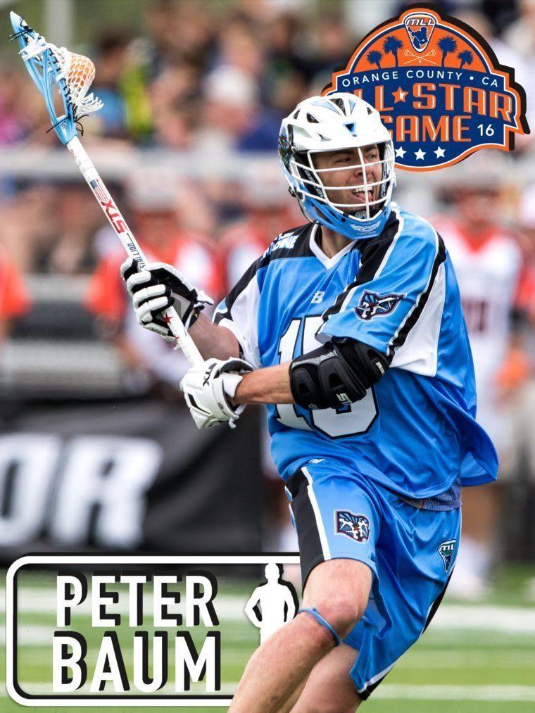PETER BAUM - major league lacrosse all stars by brand