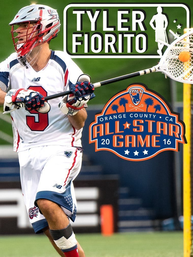 Tyler Fiorito - major league lacrosse all stars by brand