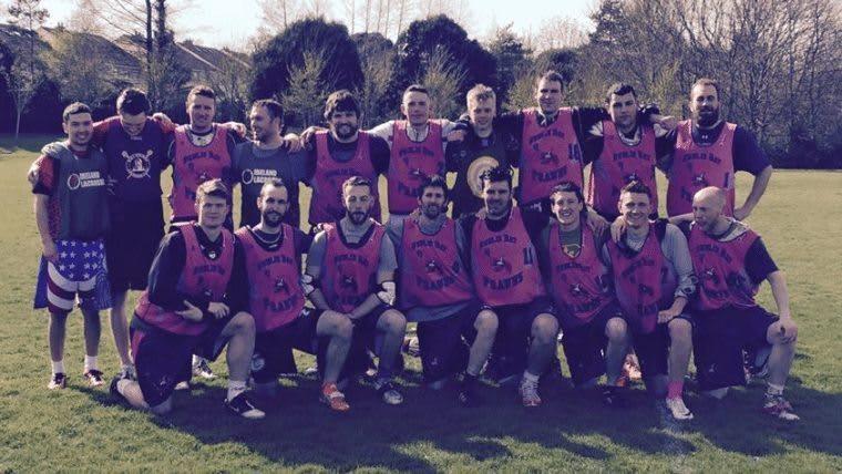Winners of the 2015 Irish Lacrosse League (ILL), the Dublin Bay Prawns.