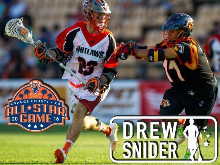 Drew Snider - major league lacrosse all stars by brand