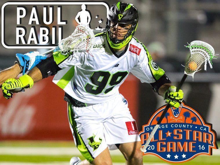 PAUL RABIL - major league lacrosse all stars by brand