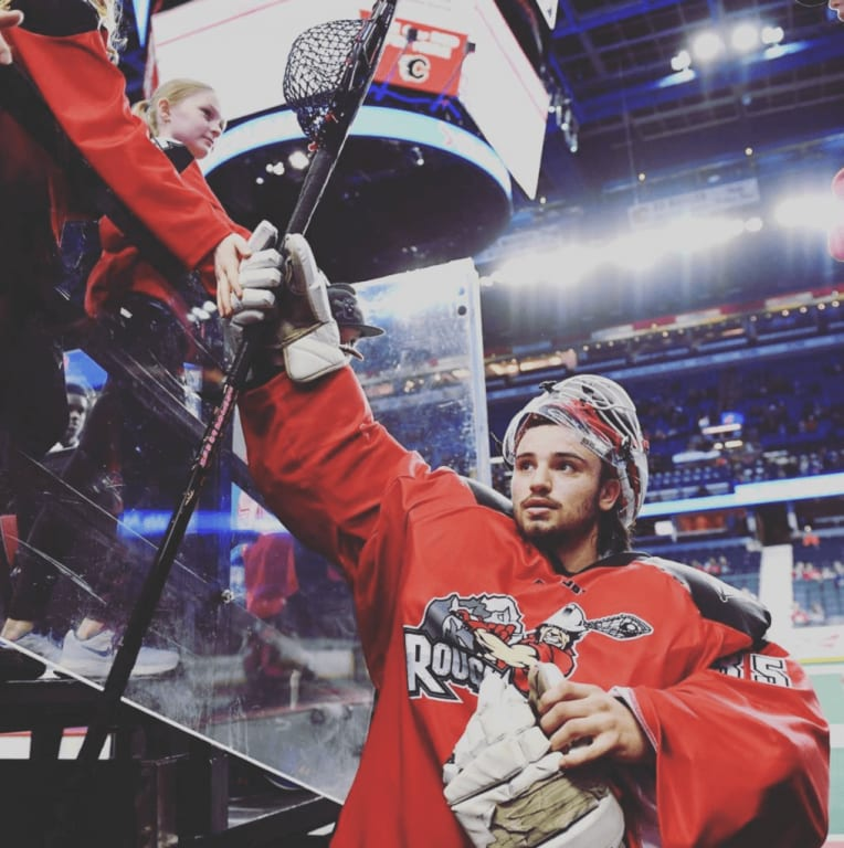 Christian Del Bianco 2017 NLL goalie Calgary Roughnecks