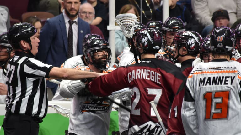 New England Black Wolves Colorado Mammoth NLL 2018 Ryan Conwell (1 of 1)