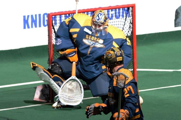 Brodie MacDonald Georgia Swarm vs Rochester Knighthawks NLL Week 5 Photo Credit: Micheline V / Rochester Knighthawks