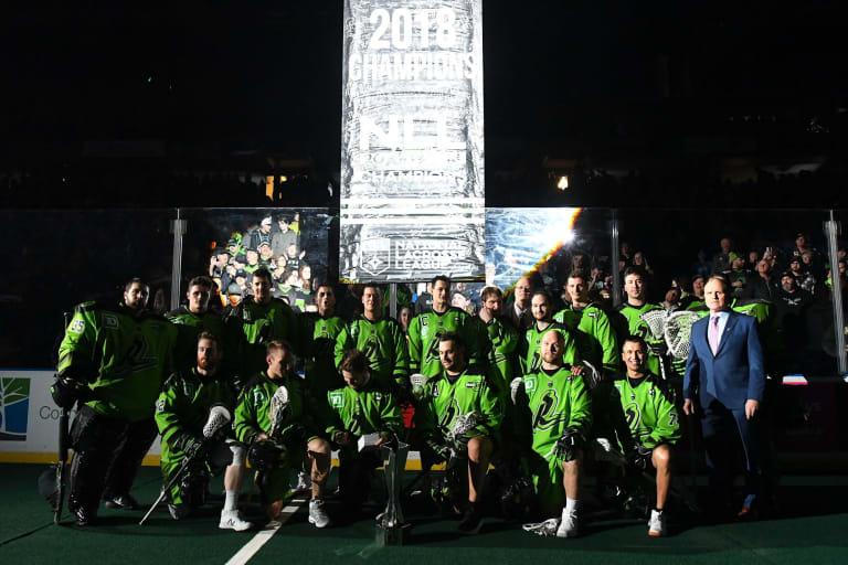 random thoughts nll national lacrosse league saskatchewan rush banner raising