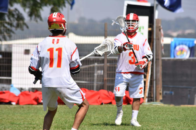 Peru Jamaica 2018 FIL Men's World Lacrosse Championships top photos tan group