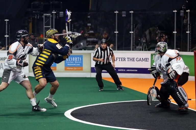 New England Black Wolves NEBW vs GA Swarm Photo Jeff Melnik NLL 2018