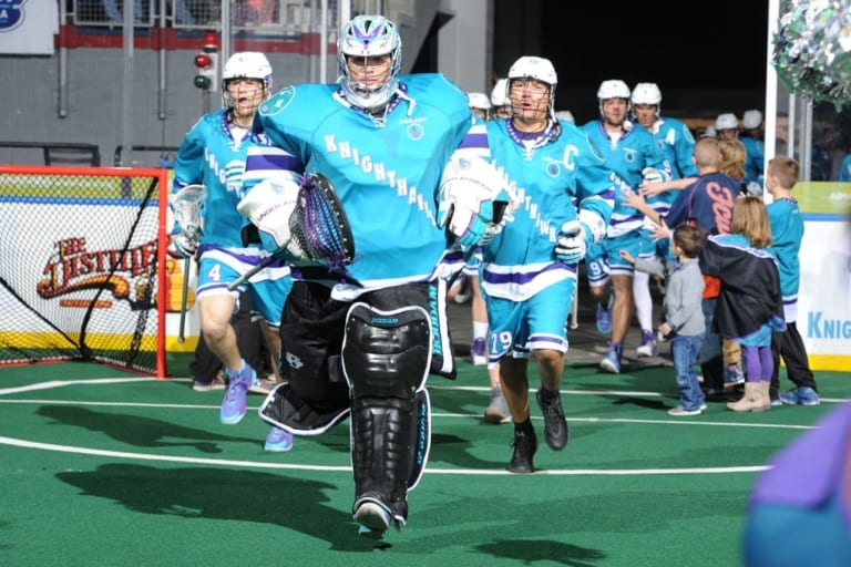Angus Goodleaf Rochester Knighthawks NLL box lacrosse goalie Photo: Micheline V