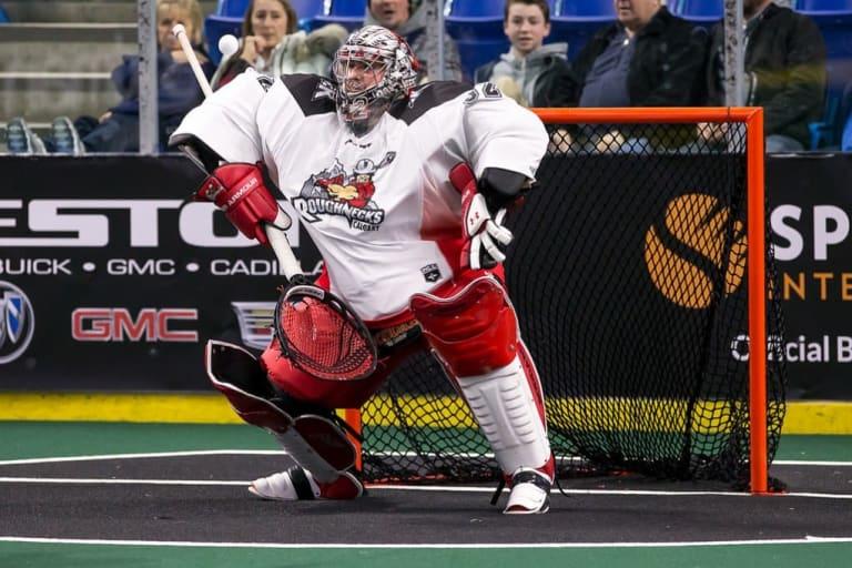 Frankie Scigliano NLL Calgary Roughnecks 2017 Photo: Garrett James / Vancouver Stealth