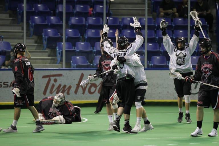 Orangeville Northmen vs Delta Islanders Minto Cup 2016 Photo: Canadian Lacrosse Association
