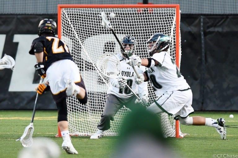 towson vs loyola lacrosse shooter