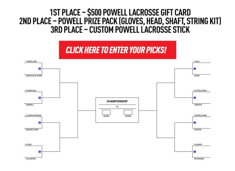 powell ncaa d1 men's lacrosse pick-it challenge