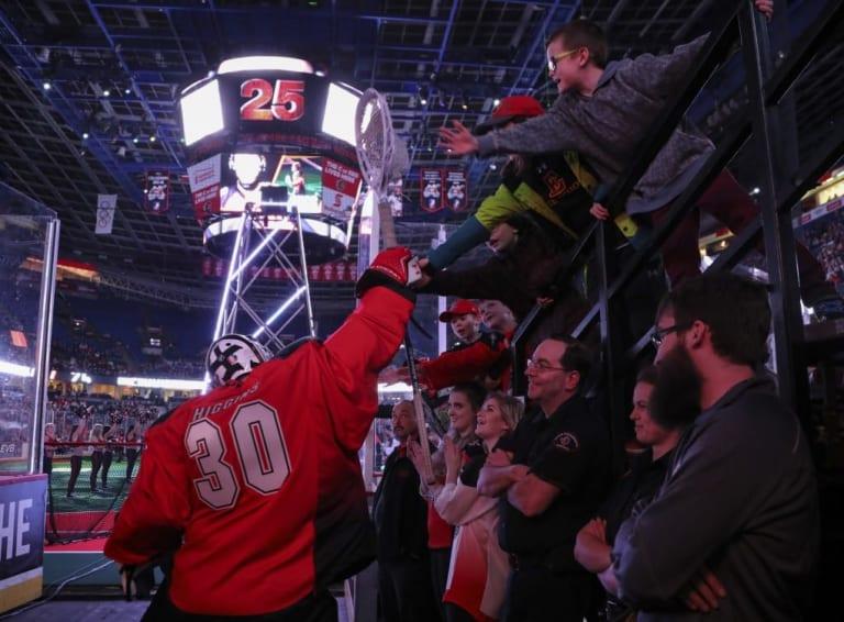 Zach Higgins Calgary Roughnecks 2017 NLL Photo: Candice Ward