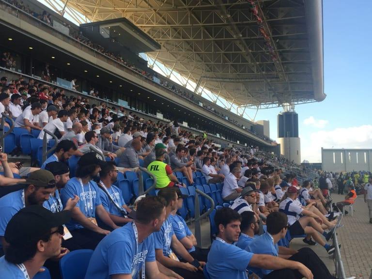 Fans at Netanya Stadium
