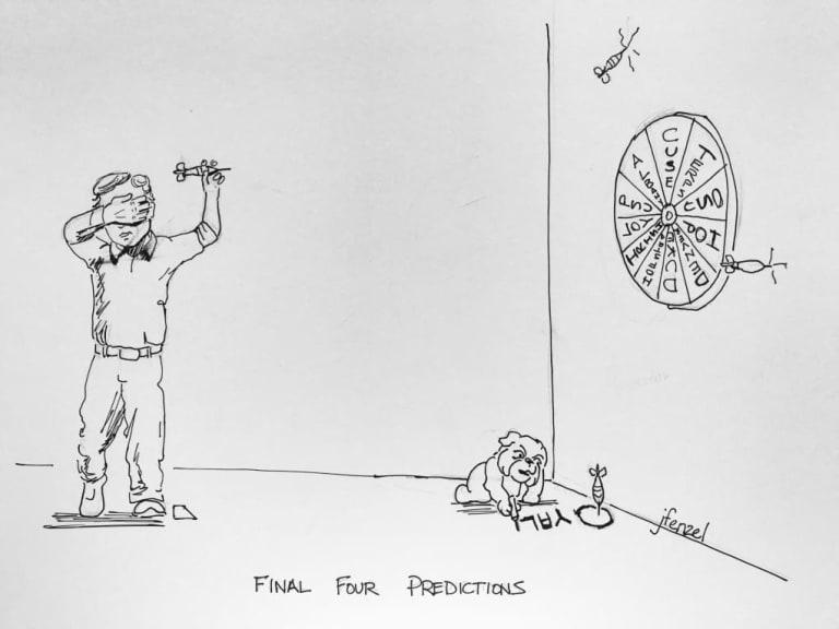 Final Four Predictions - D1 Lacrosse Cartoon