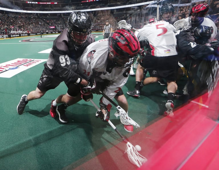 Vancouver Stealth v. Colorado Mammoth at Pepsi Center, Friday, Jan. 26, 2018, in Denver. (Photo by Jack Dempsey for the Colorado Mammoth)