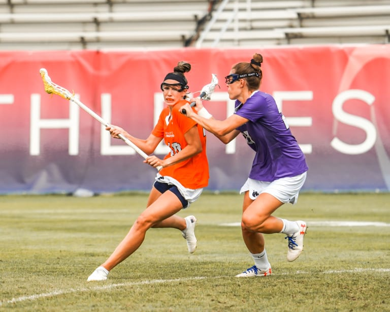 Womens Pro Lax - Marie McCool Attacks Defended by Taylor Cummings Game 6