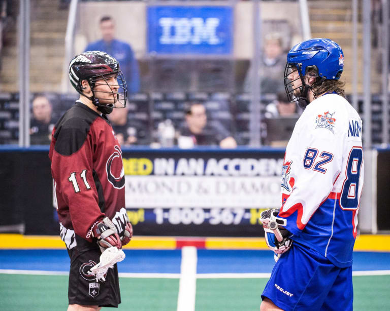 TORONTO, ON - MAR 30, 2018: National Lacrosse League game between the Toronto Rock and the Colorado Mammoth, (Photo by Ryan McCullough / NLL)